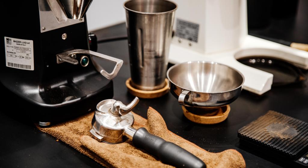 coffee gear on table