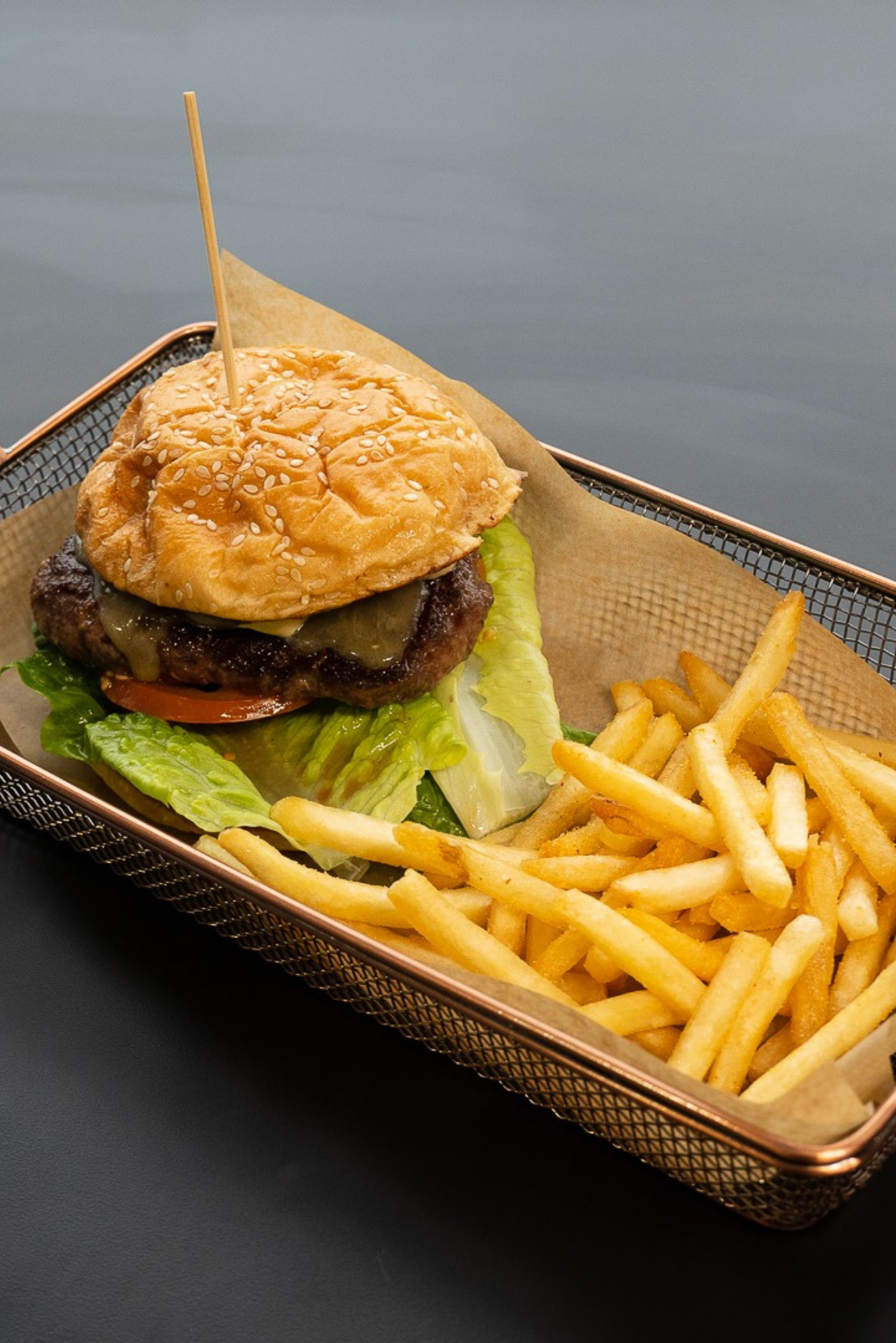 Commune burger and fries